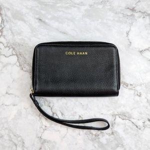 Cole Haan | Black Leather Wristlet Wallet